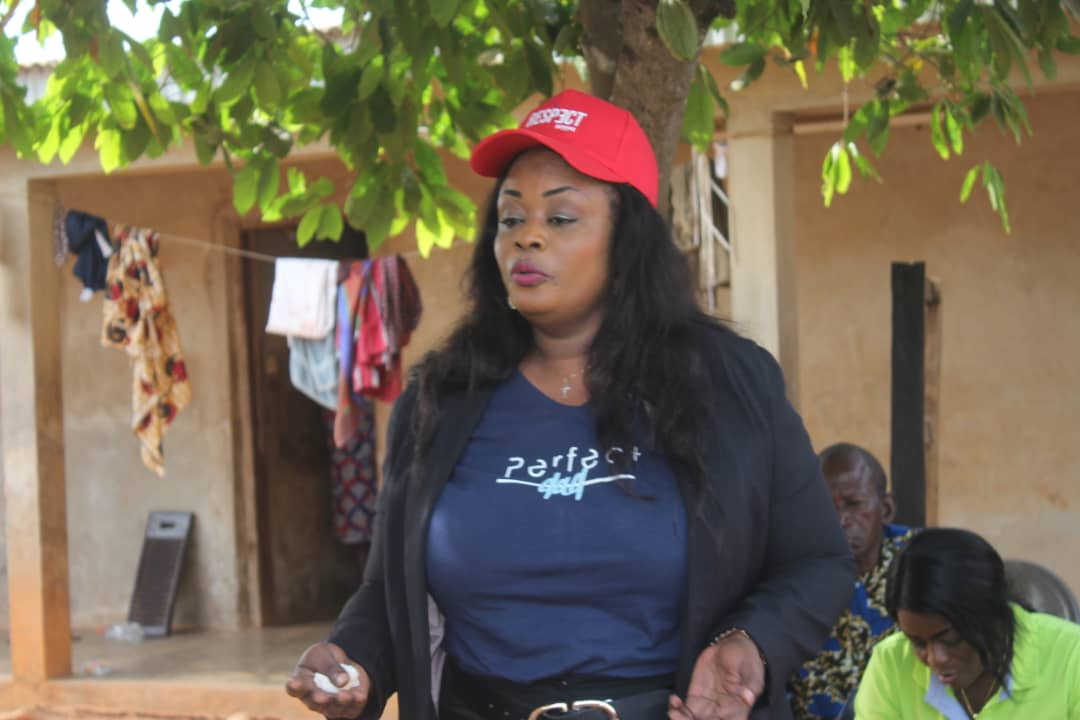Madame KOFFI Sandjé Mélissa élections législatives Côte d'Ivoire mars 2021 circonscription 117 .