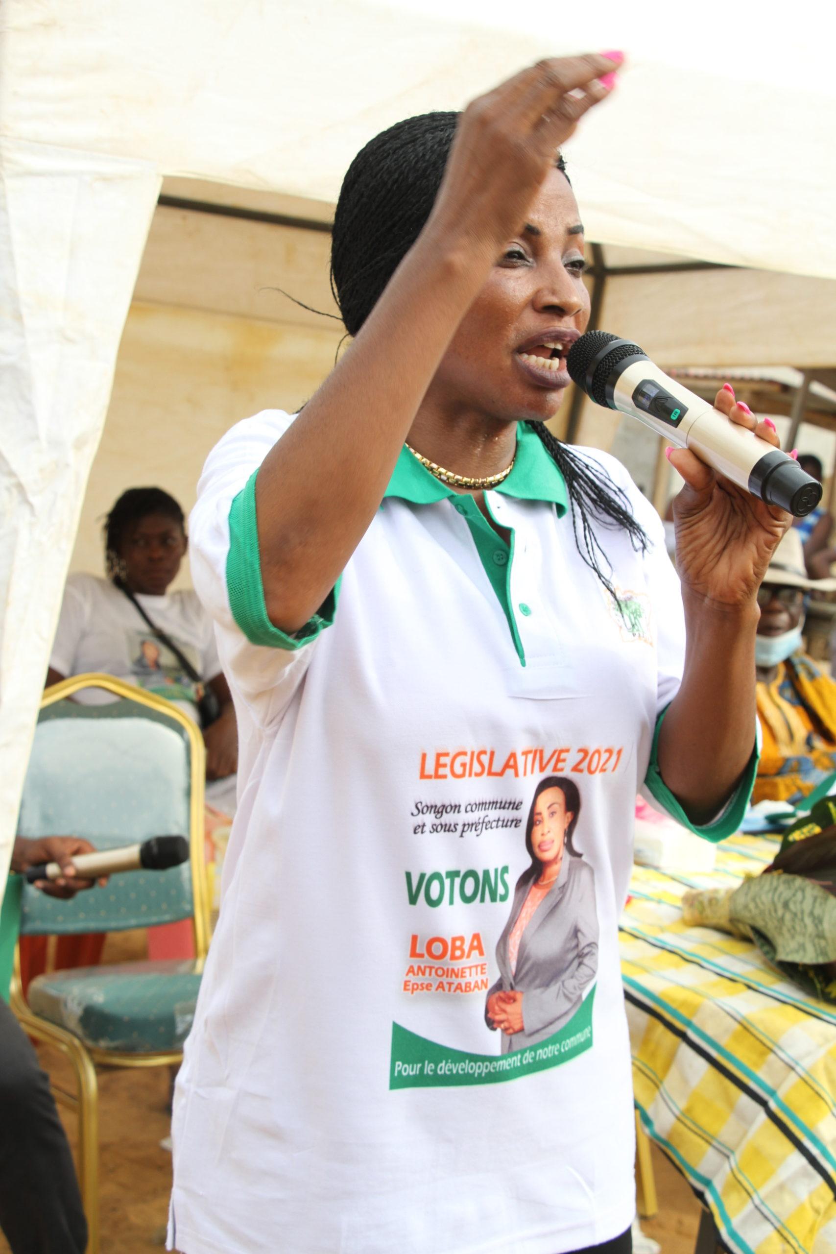 Ouverture de la campagne des élections législatives avec Madame LOBA circonscription de Songon